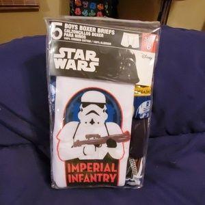 Disney Star Wars boxer briefs size 6 new in pack